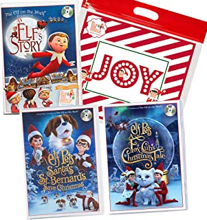 The Elf on the Shelf Animated DVD Movie Complete Pack: an Elf's Story, Santa's St. Bernards Save Christmas, A Fox Cub's Tale