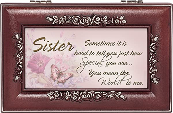 Special Sister Rosewood Finish Jewelry Music Box Plays You Are My Sunshine