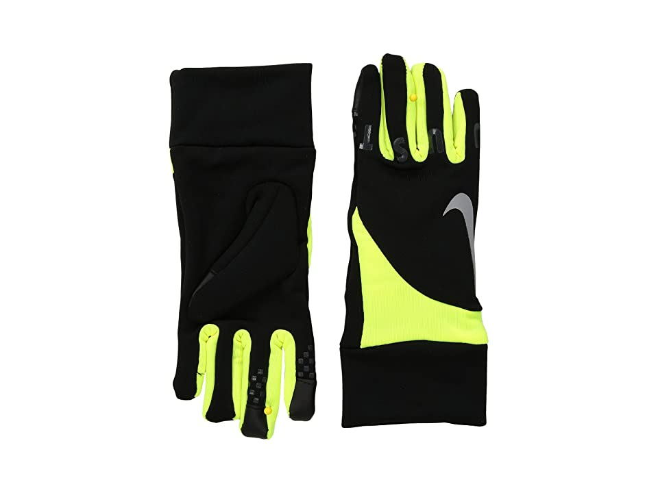 Nike Kids Gear Up Gloves Set (Little Kids) (Black/Volt) Extreme Cold Weather Gloves