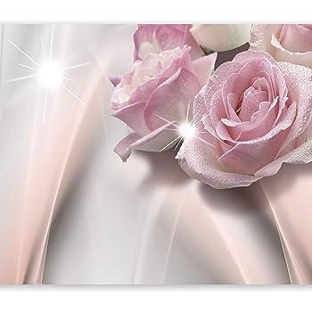 Wandbild Vlies-Tapeten Glitzer Motivtapeten wandmotiv24 Fototapete Lilie Gold Sand XS 150 x 105cm Blume 3 Teile Fototapeten Licht M1123