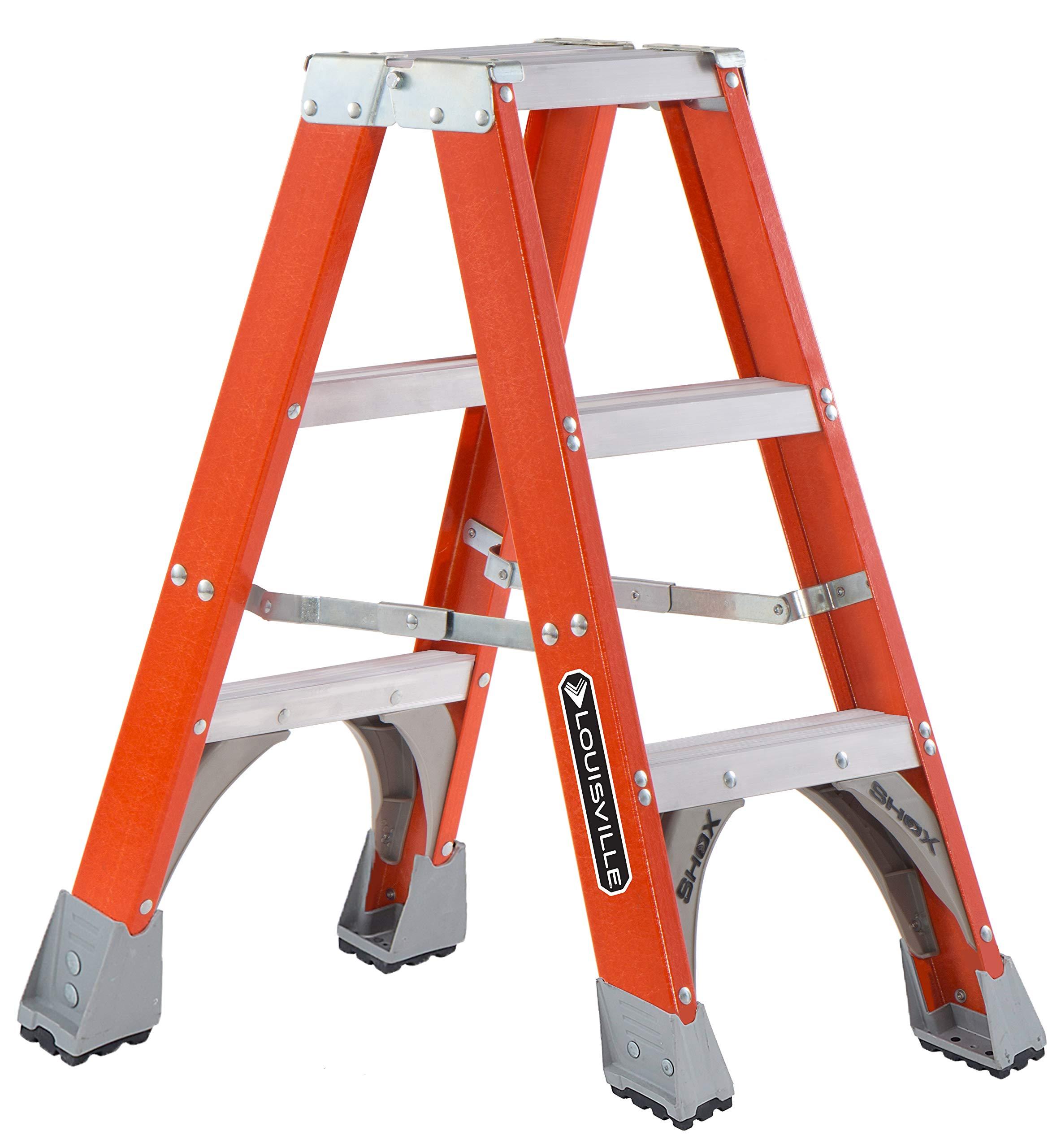 Louisville Escalera Fibra de vidrio escalera delantera, 3-Feet, índice de trabajo 300-Pound: Amazon.es: Bricolaje y herramientas