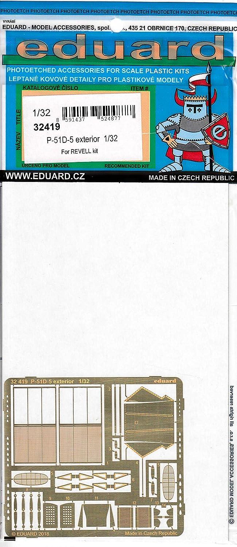 Edu32419 1:32 Eduard Pe - P-51d Mustang 贈与 Detail Set Exterior for 出色