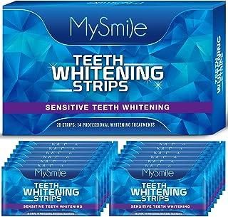 MySmile Teeth Whitening Strips, 28 White Strips Teeth Whitening Kit, Non-Sensitive 14 Sets Teeth Whitener for Tooth Whiten...