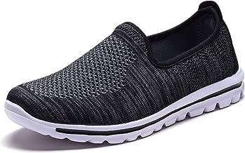 DailyShoes Women's Sneakers Slip-on Walking Memory Foam Shoes