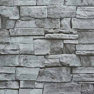 Timeet Textured Stone Peel and Stick Wallpaper Stick and Peel Wallpaper Stone 17.7