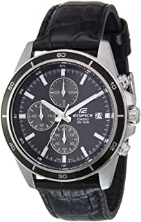 Casio Edifice Men's Black Dial Leather Analog Watch - EFR-526L-1AVUDF