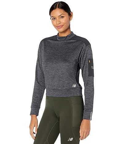 New Balance Heat Grid Long Sleeve (Heather Charcoal) Women