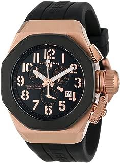 Men's 10542-RG-01-BB Trimix Diver Chronograph Black Dial Black Silicone Watch