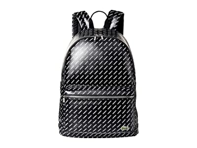 Lacoste LIVE Backpack (Black Allover Lacoste) Backpack Bags