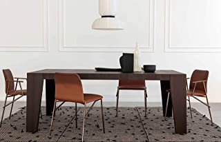 "Pianca Cartagena: Modern Dining Room Table (L 78.75""/102.25"" W 39.25"" H 29.5"")"