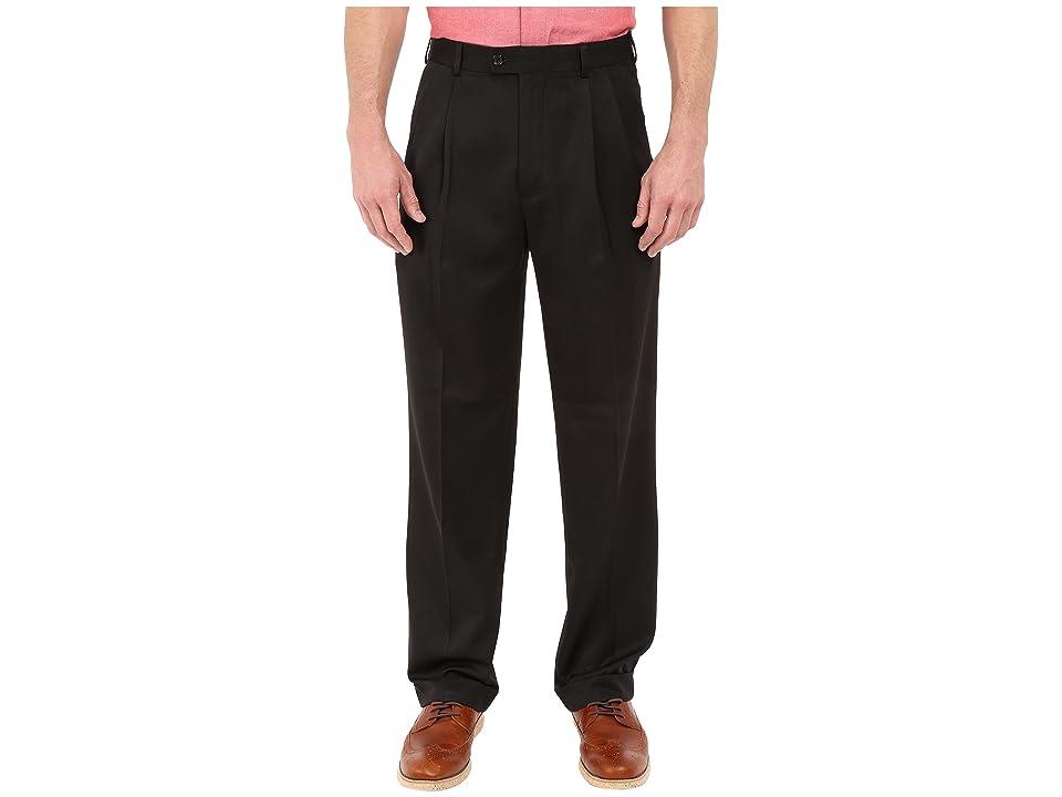 Perry Ellis Portfolio - Perry Ellis Portfolio Classic Fit Double Pleat Micro-Melange Pant