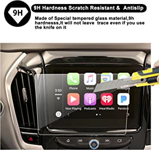 [New] 2018 Chevrolet Traverse MyLink Display Navigation Screen Protector, R RUIYA HD Clear Tempered Glass Screen Guard Shield Scratch-Resistant Ultra HD Extreme Clarity (8-Inch)