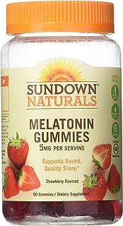 Sundown Naturals Melatonin 5 mg Dietary Supplement Gummies Strawberry Flavor - 60 ct, Pack of 3
