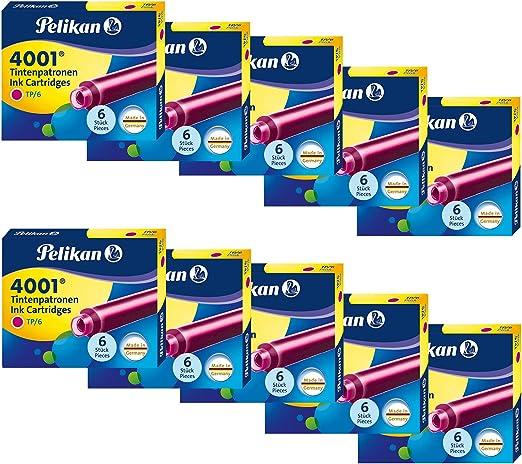 color rojo cada uno con 5/x 6/bzw 10/x 6/cartuchos de tinta original Pelikan en 5/o 10/Pack de ahorro Pelikan cartucho de tinta 4001/TP//6/en 8/colores a elegir