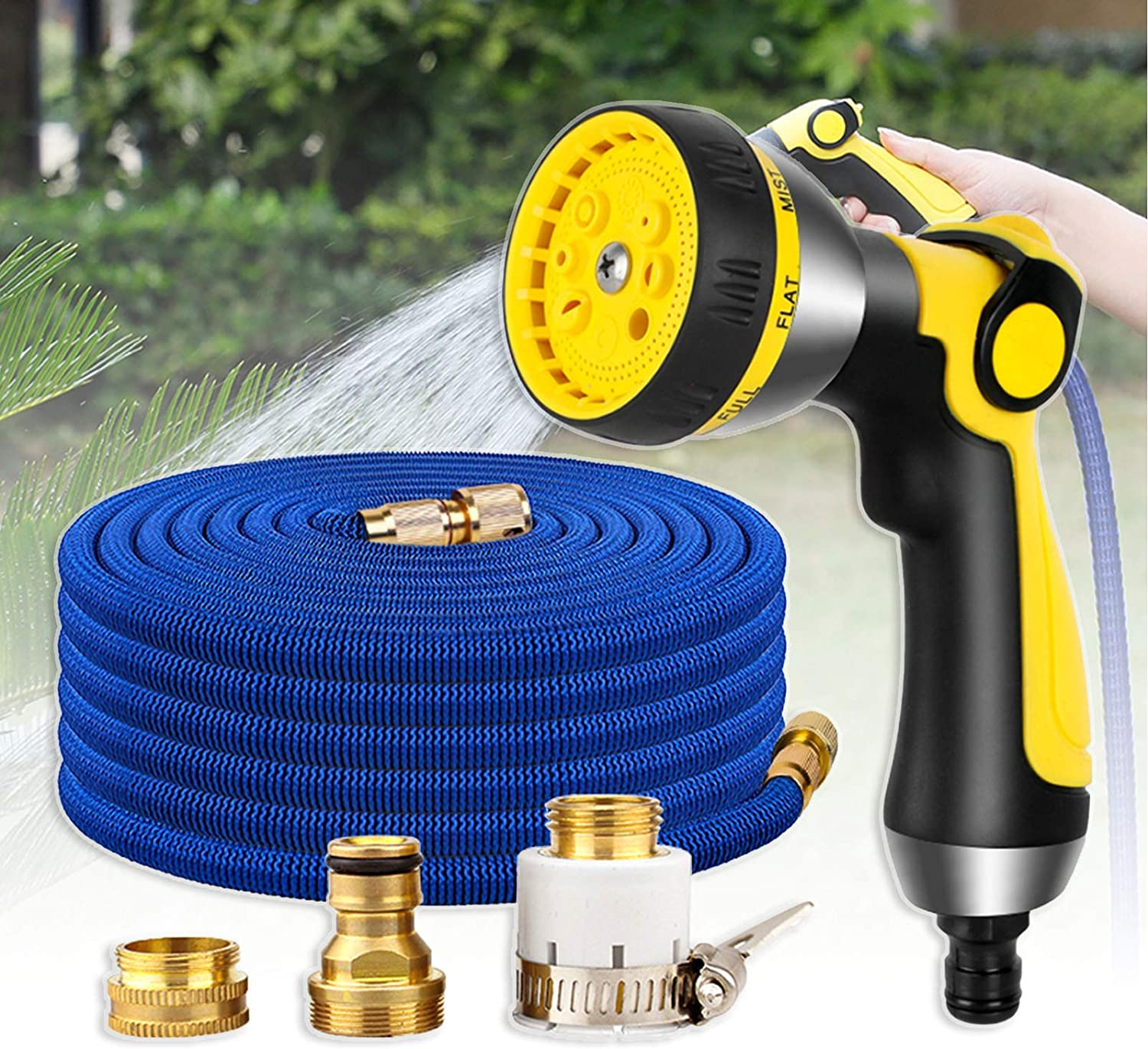 Furren Garden Hose Tools Spasm Easy-to-use price Bseack Set with Mode Retractable 8