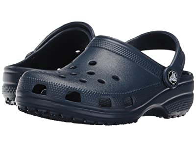Crocs Kids Classic Clog (Toddler/Little Kid/Big Kid) (Navy) Kids Shoes