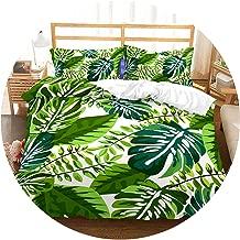 FanRen 3D Bedding Set Tropical Plants Print Duvet Cover Set Lifelike Bedclothes with Pillowcase Bed Set Home Textiles #RD-08,1,AU King,C