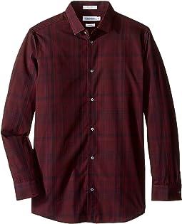 Long Sleeve Conversion Plaid Shirt (Big Kids)