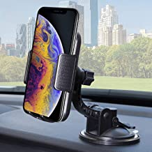 Bestrix Universal Dashboard & Windshield Car Phone Dash Mount Holder Compatible with iPhone 6/6S/7/8/X Plus 5S/5C/5 Samsung Galaxy S5/S6/S7/S8/S9 Edge/Plus/Note and All Smartphones up to 6.5""