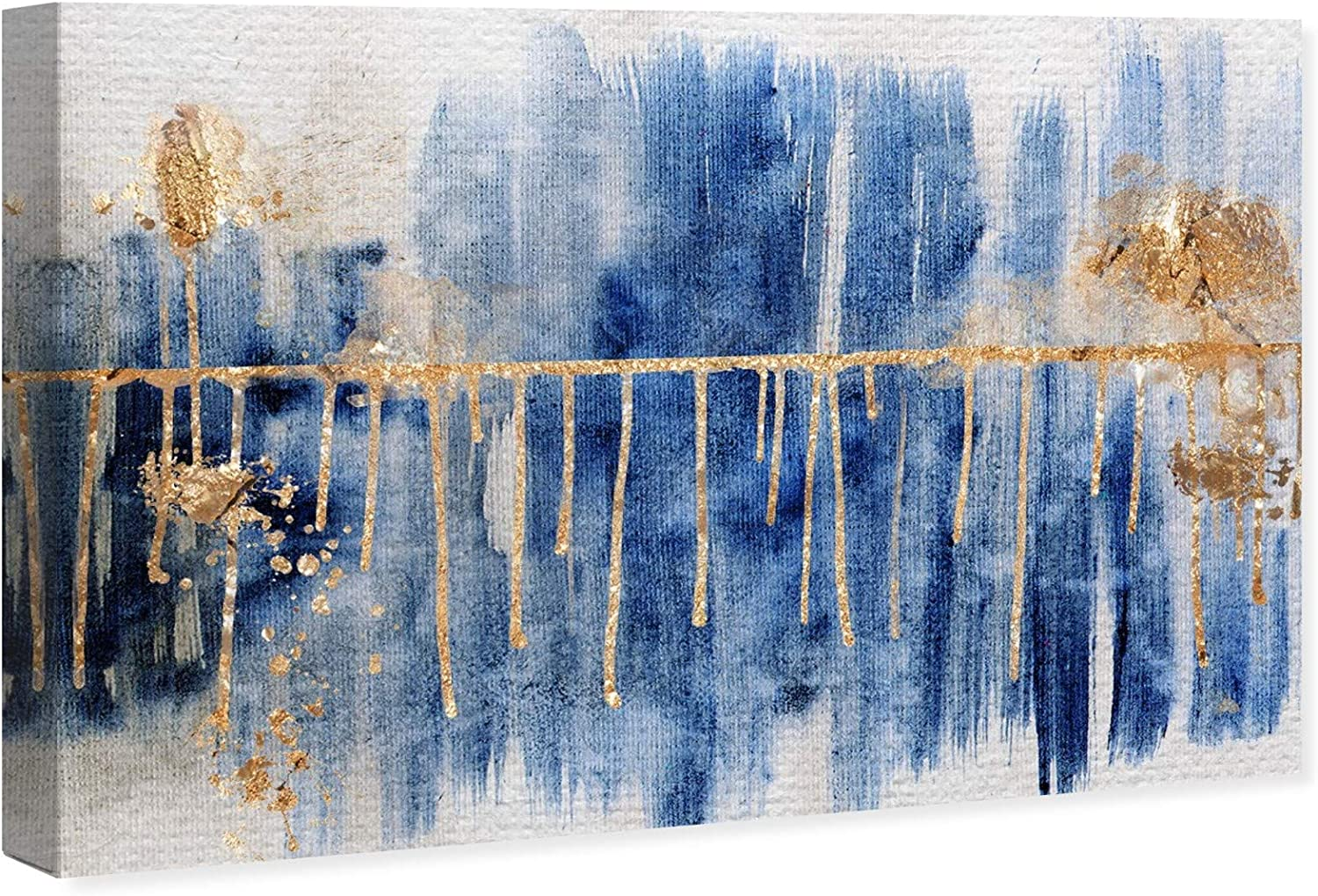 The Oliver Gal Artist Co. Abstract Wall Art Canvas Prints 'Path Home Décor,  221 W x 221 H x 21.21 D, Blue, Gold