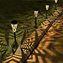 LeiDrail Solar Pathway Lights Outdoor Garden Yard Décor Metal Solar Powered Walkway LED Landscape Lighting Waterproof for ...