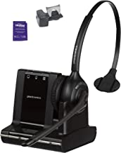 Plantronics Savi W710 Wireless Headset Bundled with Lifter and Headset Advisor Wipe (Renewed)