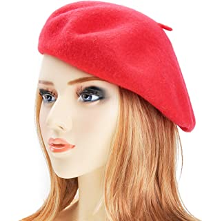 186d2450c503d ZLYC Wool Beret Hat Classic Solid Color French Beret for Women Girls