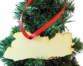 Westman Works El Salvador 木质国家圣诞装饰品盒装木质装饰,美国手工制作