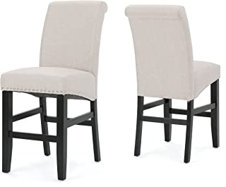 Christopher Knight Home 300873 Clifton Wheat Fabric Counter Stools (Set of 2)