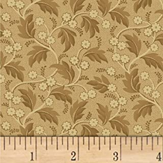 Windham Fabrics Nancy Gere Shiloh C.1880 Trailing Leaves Fabric, Toast, Fabric By The Yard