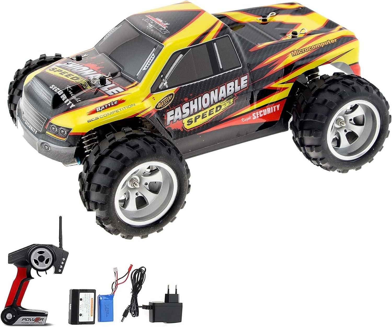 HSP Himoto 1 18 Elektro Off-Road RC Ferngesteuerter Monstertruck Modell mit LiPo-Power, 4WD Antrieb, Digital vollproportionale Steuerung Top-Speed bis zu 35 km h, Komplett-Set RTR