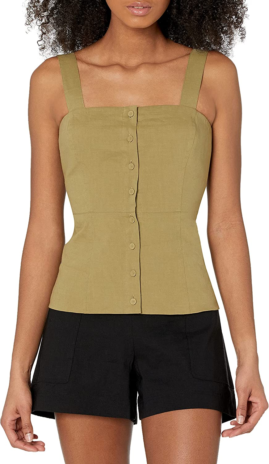 Theory Women's Button Front Shoulder Straps Cami