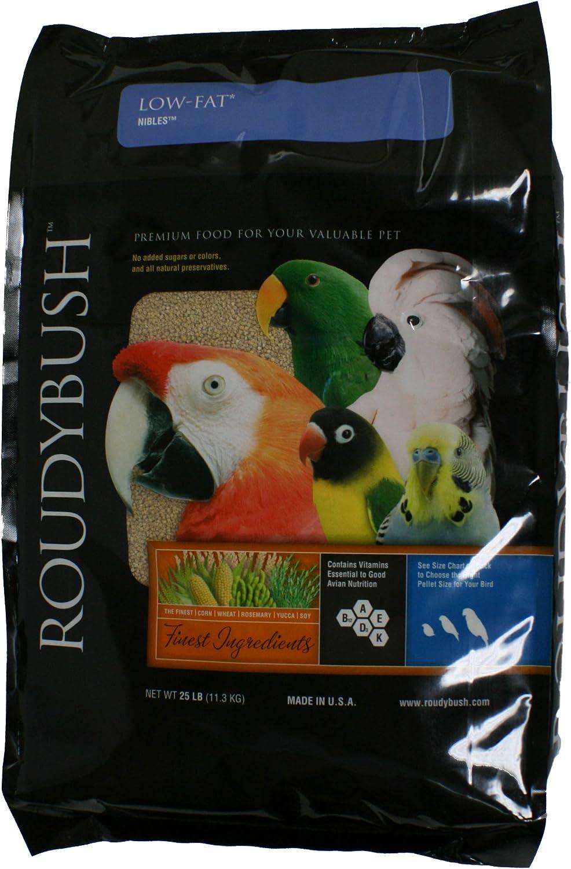 RoudyBush Low Fat, Nibbles Bird Food, 25Pound
