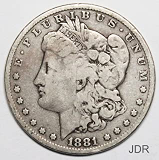 1881 P Morgan Silver Dollar $1 Very Good