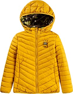 QLZ Boys Reversible Camouflage Puffer Jacket with Hooded Coat