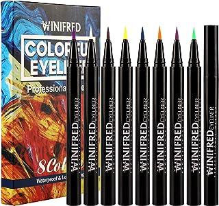 Winifred Colorful Eyeliner Liquid Color Pencil Eyeliner Colored Eyeliner Liquid Pen Neon Color Gel Eyeliner Waterproof Lon...