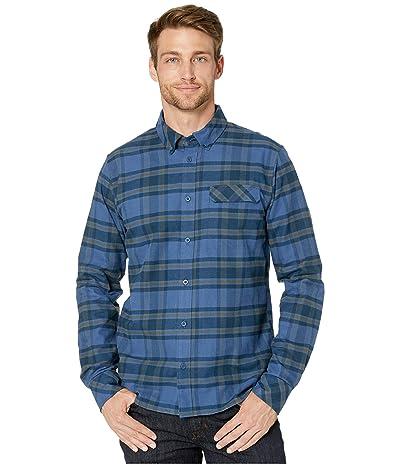 Helly Hansen Classic Check Long Sleeve Shirt (Blue Fog Plaid) Men