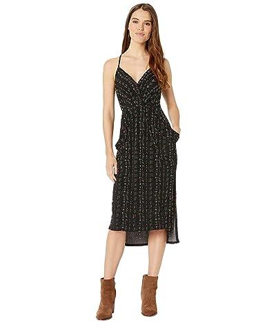 BCBGeneration Drapey Pocket Midi Dress TVP6169244 (Black) Women