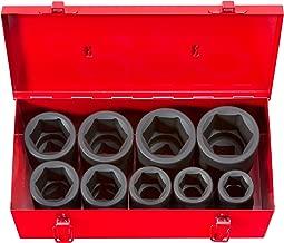 TEKTON 1-Inch Drive Deep Impact Socket Set, Inch, Cr-Mo, 6-Point, 1-Inch - 2-Inch, 9-Sockets | 4892