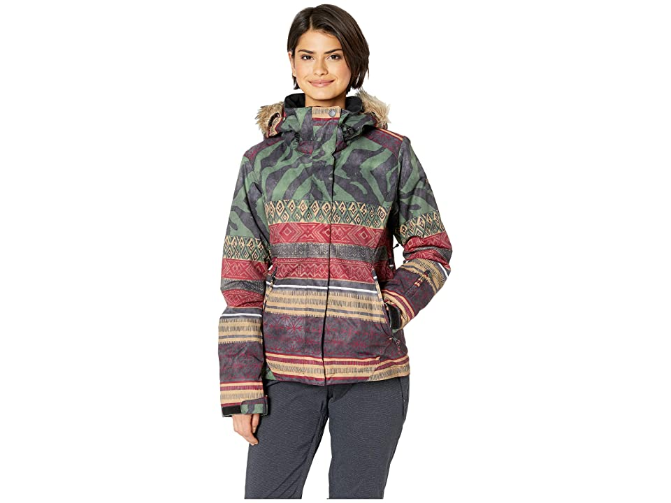 Roxy Jet Ski Se 10K Jacket (True Black Wild Ethnic) Women