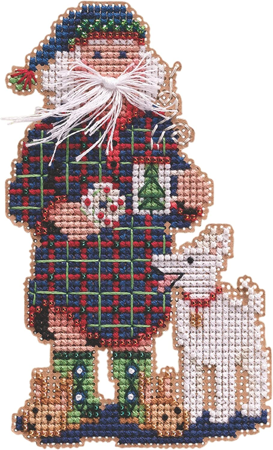 Christmas Morning High quality Santa Max 88% OFF Beaded Counted Cross Stitch Ornament Kit