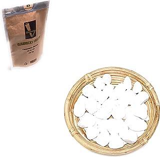 Bamboo Decor Decorative Stones 2 KG - 4.4 LB For Plants -Vases-Aquariums_Size (2-4) cm_(3-5) cm_White color ((2-4) CM)