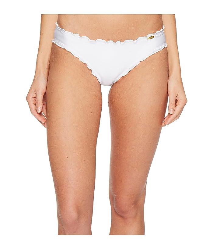 Luli Fama Cosita Buena Wavey Full Bikini Bottom (White) Women