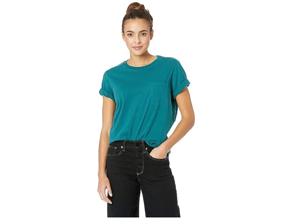 Richer Poorer Crew Pocket Tee (Green) Women's T Shirt