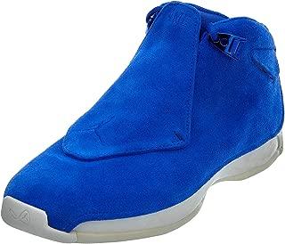 Jordan Nike Mens Air 18 Retro Basketball Shoes Racer Blue/Sail AA2494-401 Size 11