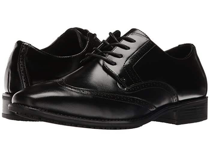1950s Mens Shoes: Saddle Shoes, Boots, Greaser, Rockabilly Stacy Adams Adler Slip Resistant Wingtip Oxford Black Mens Lace Up Wing Tip Shoes $74.95 AT vintagedancer.com