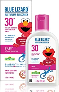 Blue Lizard Baby Mineral Sunscreen – No Chemical Actives – SPF 30+ UVA/UVB Protection, 5 oz