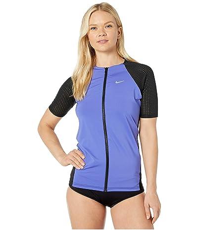 Nike Solid Short Sleeve Hydroguard (Sapphire) Women