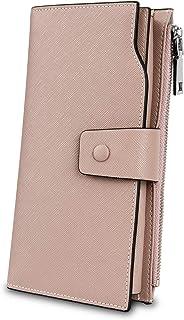 [ヤラックス]YALUXE レディース 床革 RFID ブロッキング 大容量 贅沢 クラッチ ウォレット カード ホルダー オーガナイザー 財布 杏色