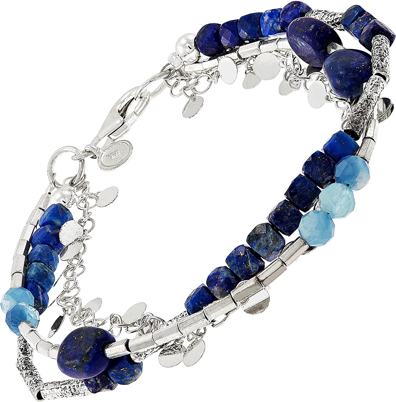 Ranking TOP18 Dedication Silpada 'Azurro' Aquamarine Hematite Bracelet in Bead Sterling